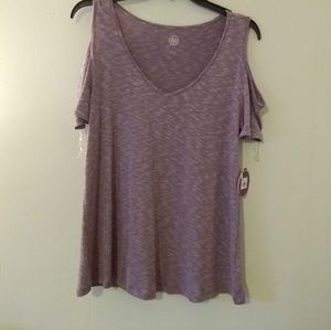 SO Strappy Cold Shoulder Tee NWT
